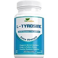 L - Tyrosine Extra Strength, Amino Acid, 50 Veggie Capsules by Vita Premium