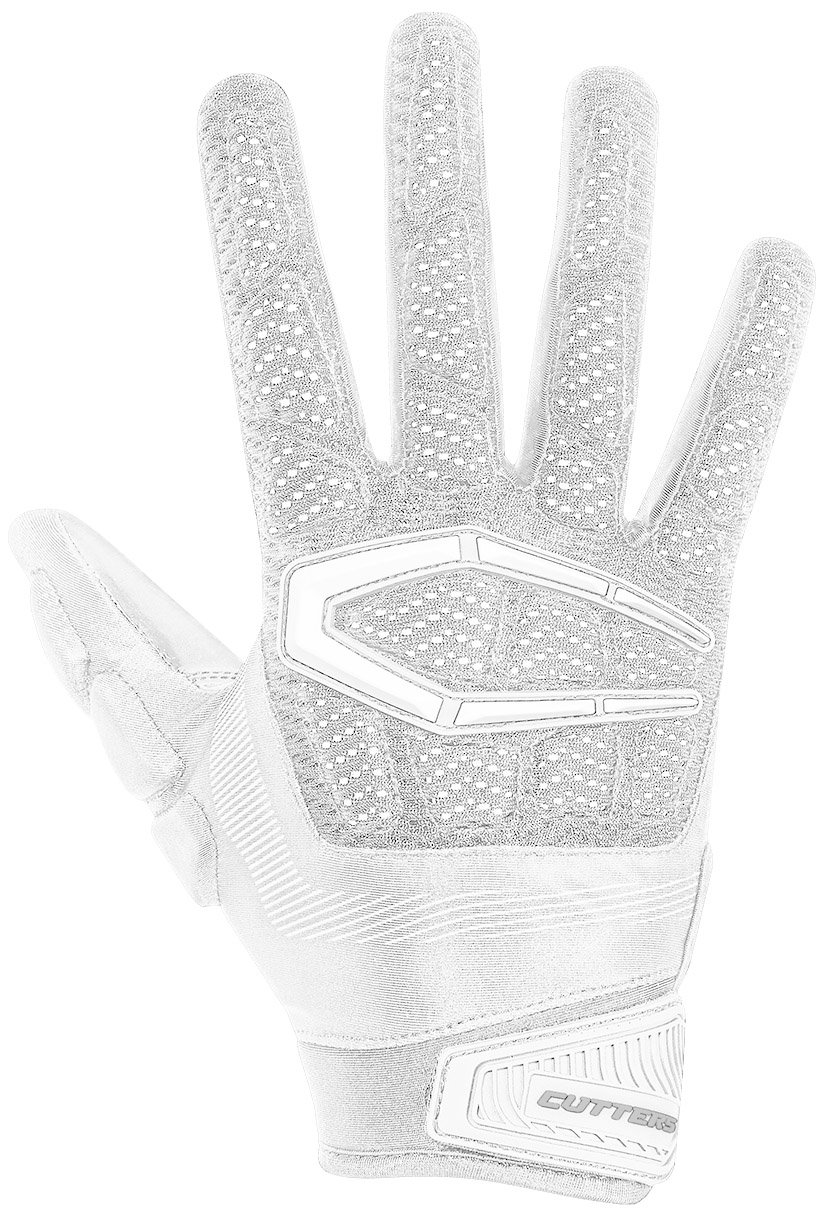 Cutters S652 Gamer 3.0 Padded Receiver Glove-Adult: Large-WHITE by Cutters (Image #1)