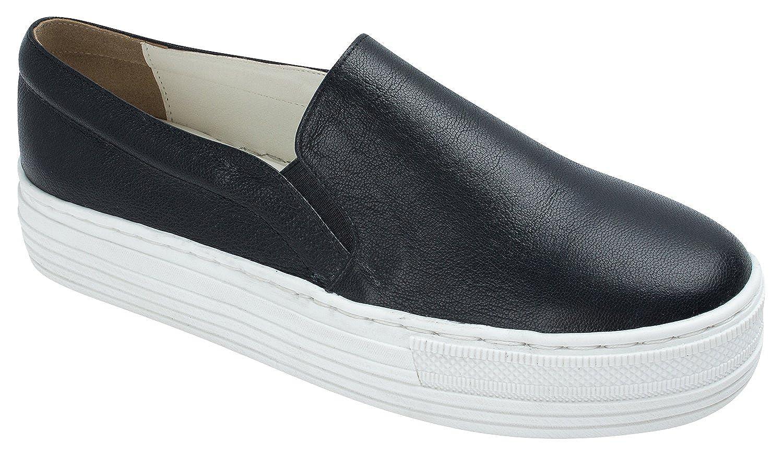 SoYou AnnaKastle Womens Genuine Leather Platform Slip-On Sneakers