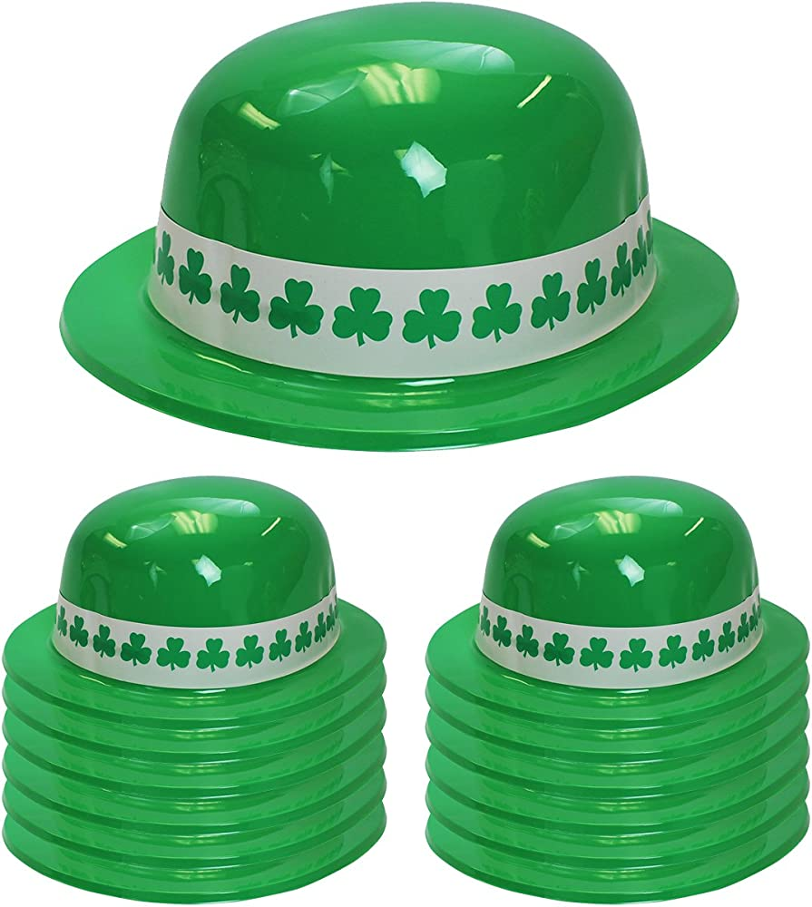 St Patricks Day Irish Costume Shamrock Cadet Cap Hat