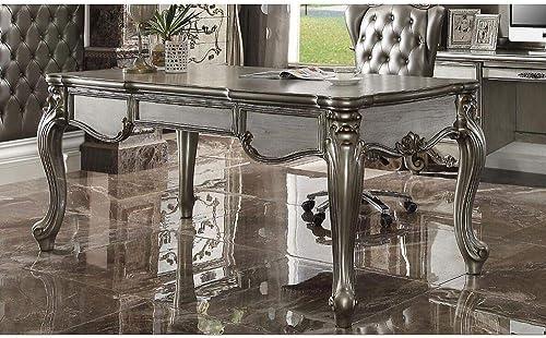 Versailles Desk In Antique Platinum Vintage Office Desk Office Furniture