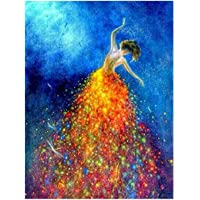 Ukerdo DIY Diamond Painting Kits Full Drill Wall Arts Dancing Beauty Back Pictures for Home Bedroom Décor