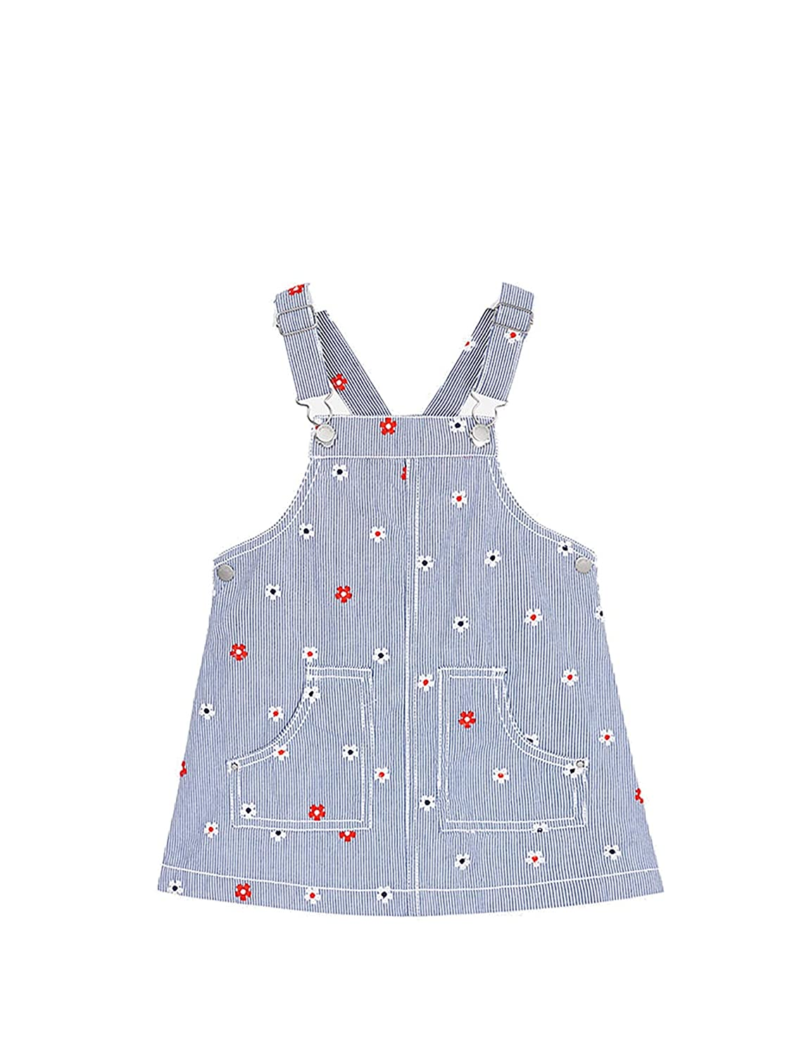 Denim Embroidered Overall Dress for Girls Mayoral 3904