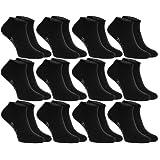 6 o 12 paia di calzini corti (sneaker), neri o bianchi, prodotti in Europa, di cottone, tanti numeri : 36 37 38 39 40 41 42 43 44 45 46, massima qualita sia donne sia uomini by Rainbow Socks
