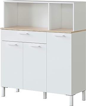 Habitdesign 0F9930A - Alacena de Cocina, Aparador, Mueble Auxiliar ...