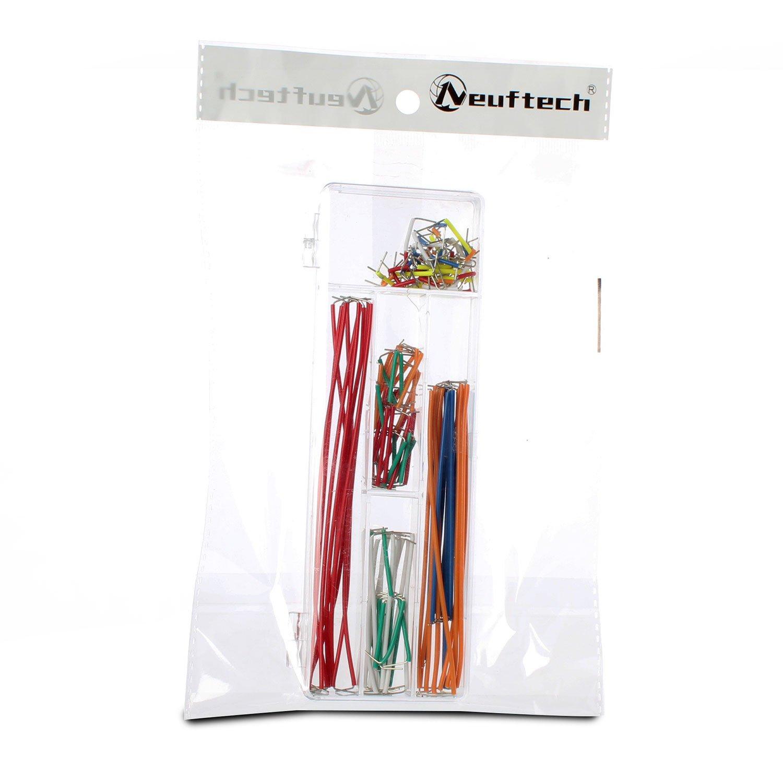 Neuftech/® 140 pcs Breadboard jumper cable Wire Kit de alambre para Arduino