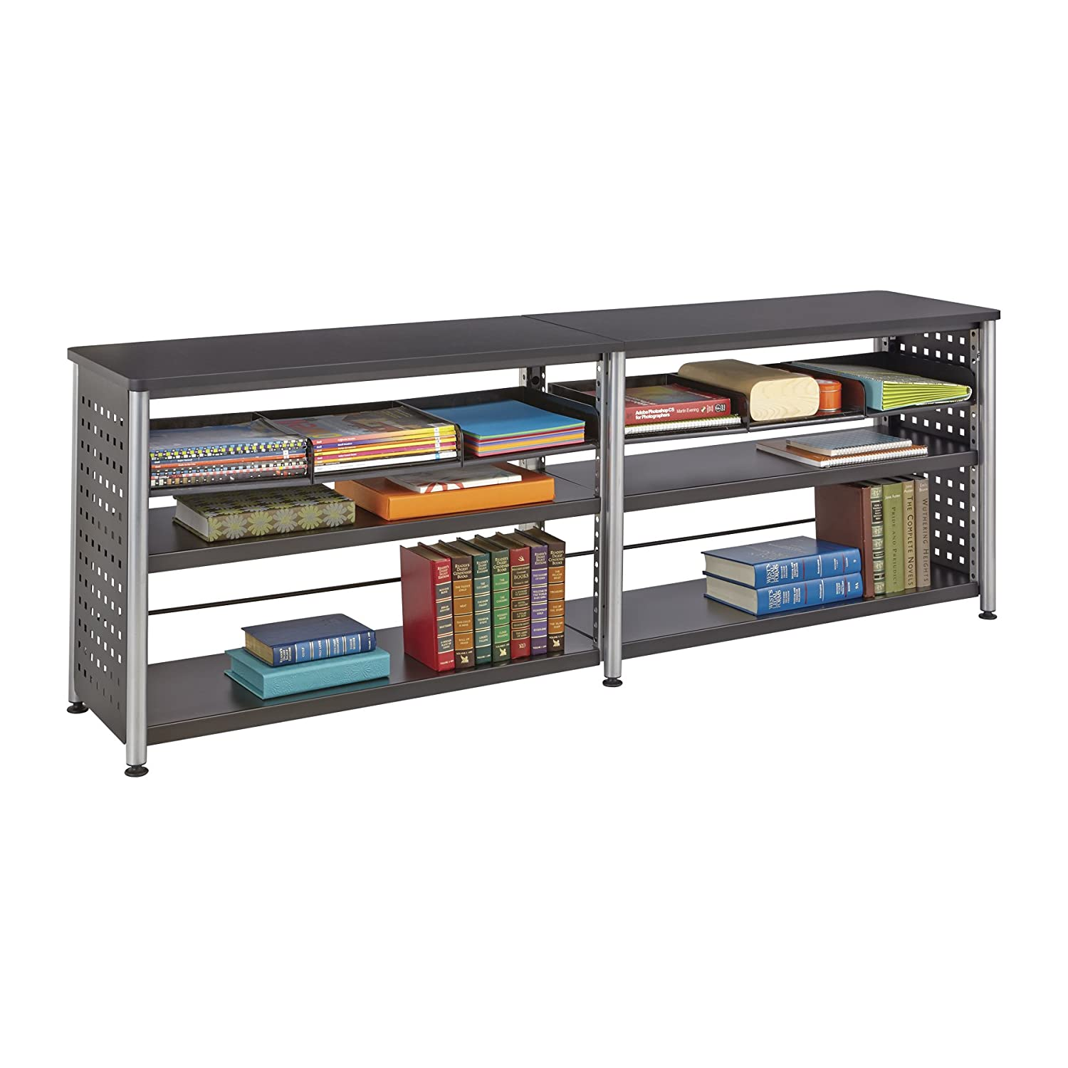 Safco Products Scoot 2-Shelf Bookcase, Black Safco Products CA 1601BL