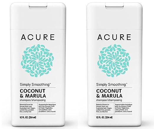 2. Acure Organics Coconut Straightening Brazilian Natural Shampoo