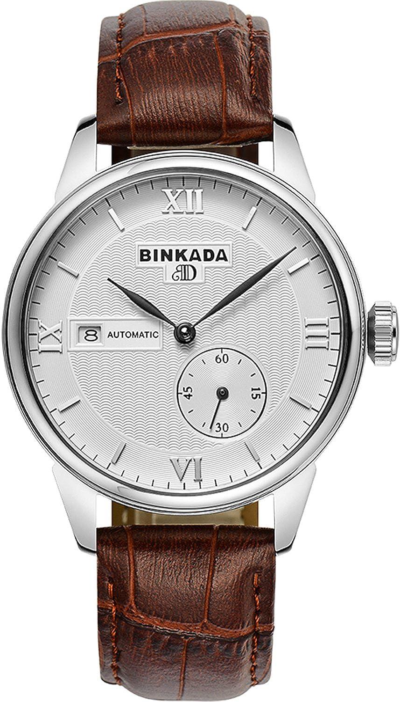 BINKADA 3ポインタ自動巻上げホワイトダイヤルメンズ腕時計# 7007b02 – 1 B01DZKXGU2