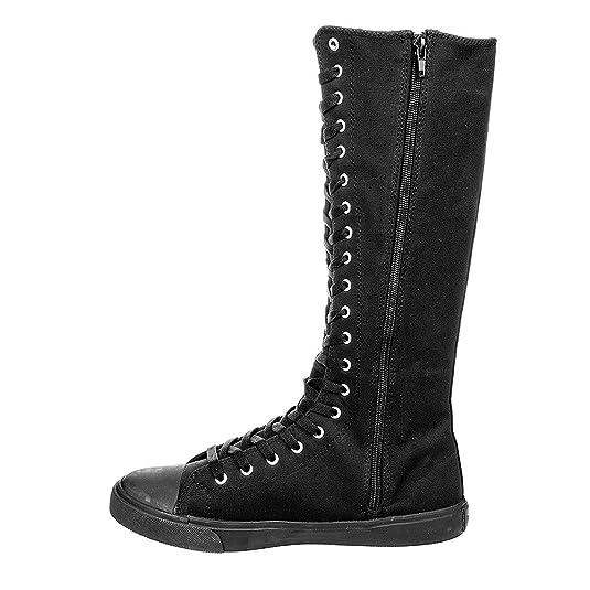 Zapatillas de lona altas tipo botas de Blue Banana (Negro