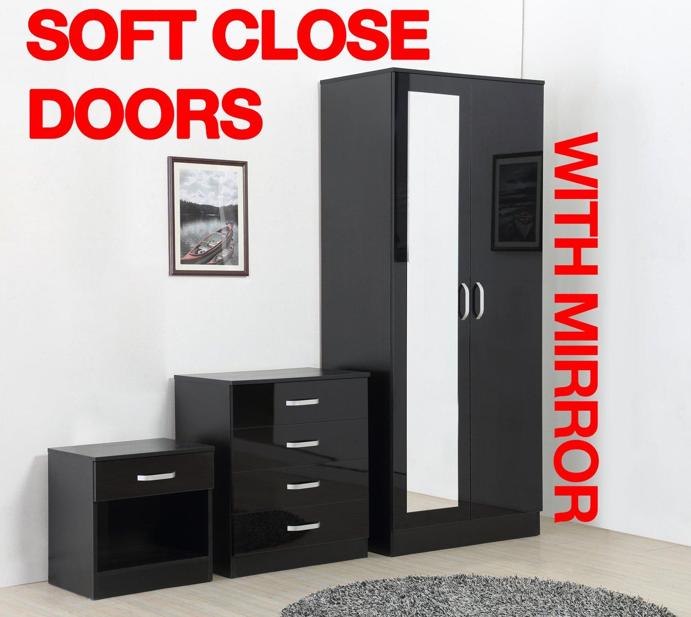 Fairpak Gladini High Gloss 4 Drawer Chest Bedroom Furniture