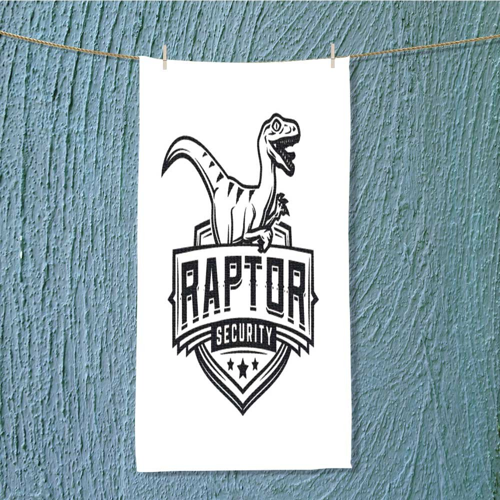 L-QN sports towel raptor sport logo mascot design vintage college team coat of arms Fast Drying, Antibacterial W35.4 x H11.8 INCH