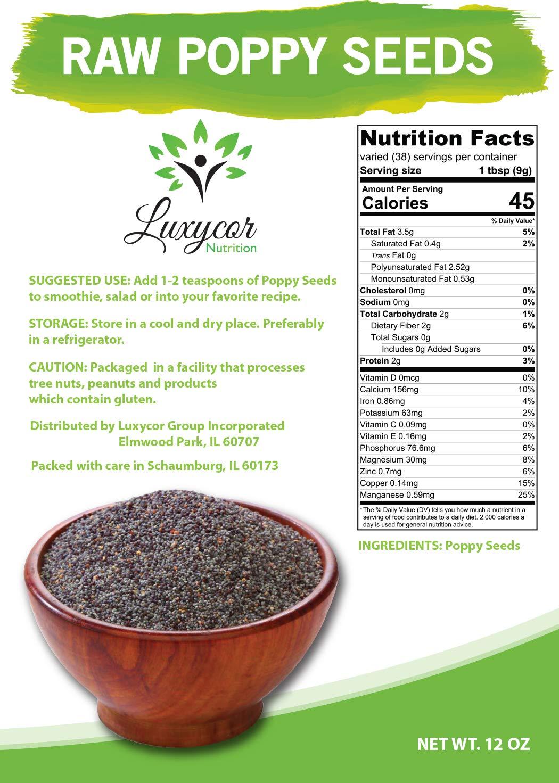 Raw Poppy Seeds (12 OZ) < Poppy Seed < Grocery & Gourmet