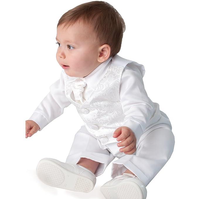 Vivaki para Bautizo de Atuendo Bañador para bebé de Color Blanco: Amazon.es: Ropa y accesorios