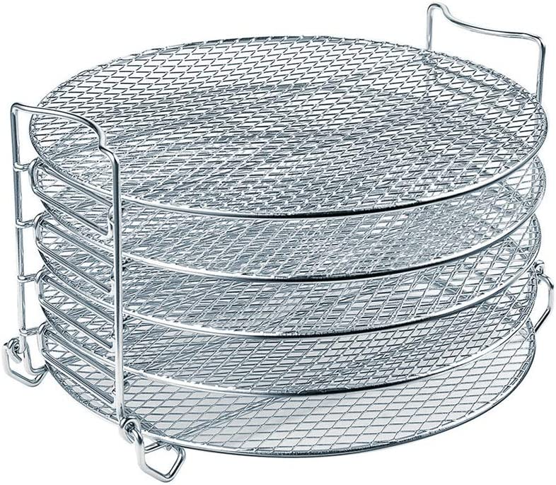 Dehydrator Rack For Ninja Foodi Accesories, 6.5 Quart & 8 Quart - Stainless Steel Cooker Rack With Five Stackable Layers