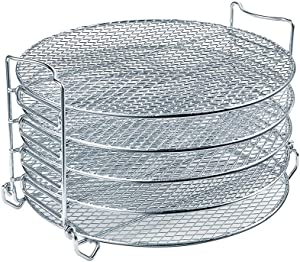 Dehydrator Rack For Ninja Foodi Accesories, Pressure Cooker and Air Fryer 6.5 Quart & 8 Quart - Stainless Steel Cooker Rack With Five Stackable Layers