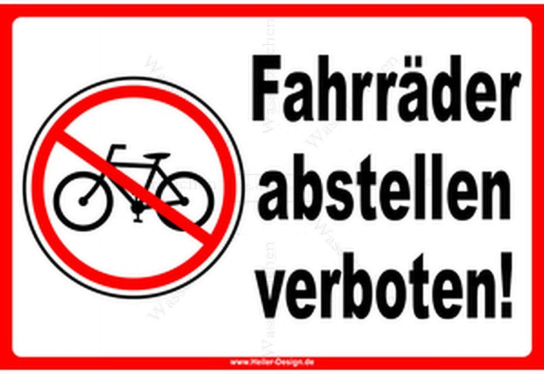 Aufkleber-Folie Wetterfest Made IN Germany Fahrr/äder abstellen verboten erlaubt S390 UV/&Waschanlagenfest-Profi Qualit/ät Sticker-Designs 15cm 2St/ück