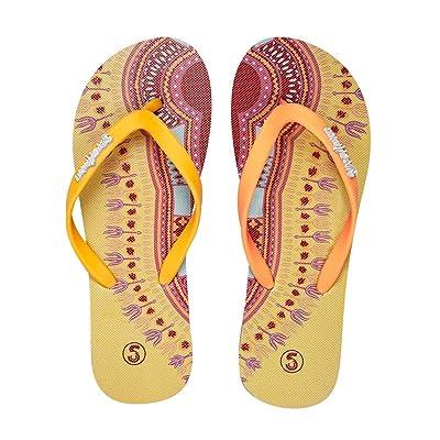 SlipsAfrica Womens Casual Flip-Flops | Comfortable Beach Slippers (Mustard) | Flip-Flops