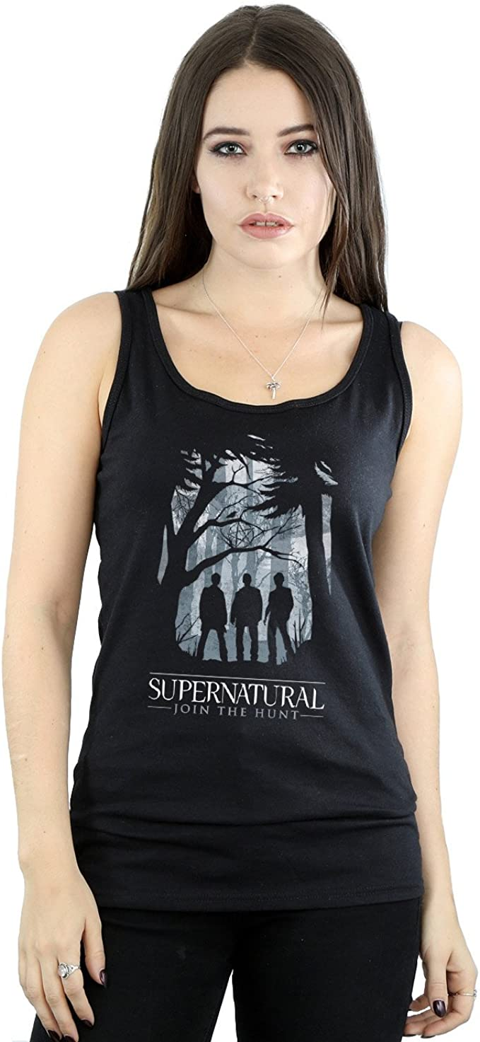Supernatural Mujer Group Outline Tank Top