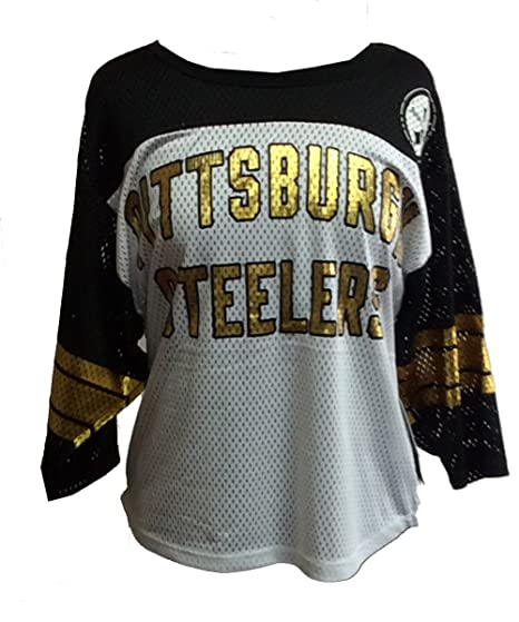 Amazon.com   Pittsburgh Steelers Womens All Pro 3 4 Sleeve T-shirt ... c1264618c