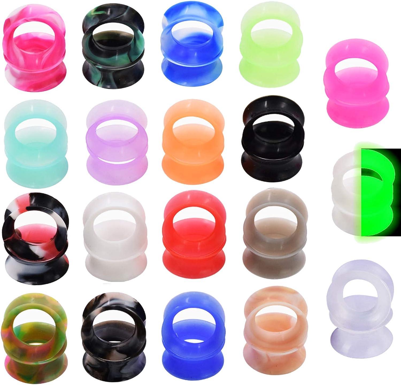 Oyaface 40//56 PC Solid Silicone Flesh Tunnel Plug Eyelet 2G-1 Flexible Ear Stretching Gauge Expander