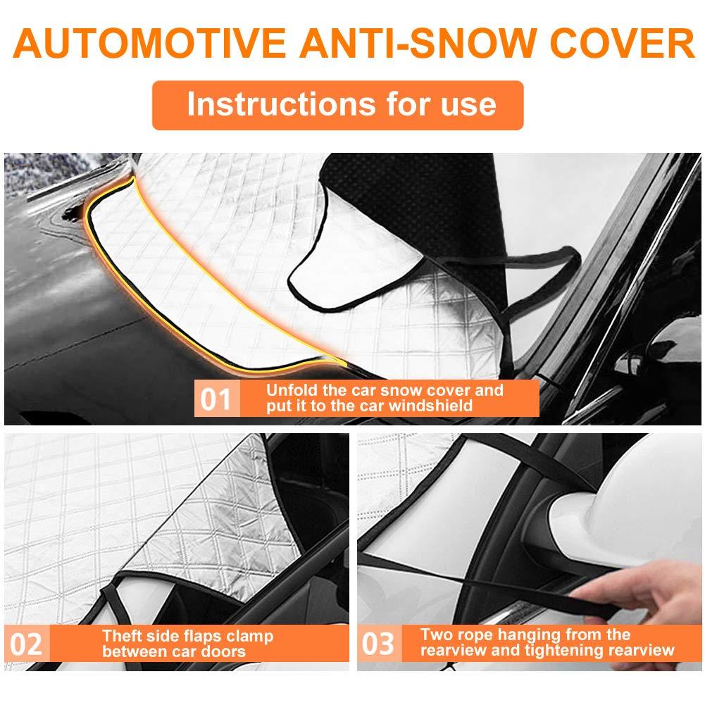 Amazon.es: Protector Parabrisas, Mture Cubierta de Parabrisas Antihielo y Nieve proteja bien el parabrisas del vehículode la escarcha y la nieve en invierno ...