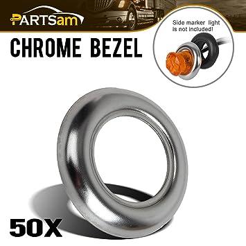 """partsam 3/4 """"redondo bisel anillo embellecedor de acero inoxidable para 3/"""