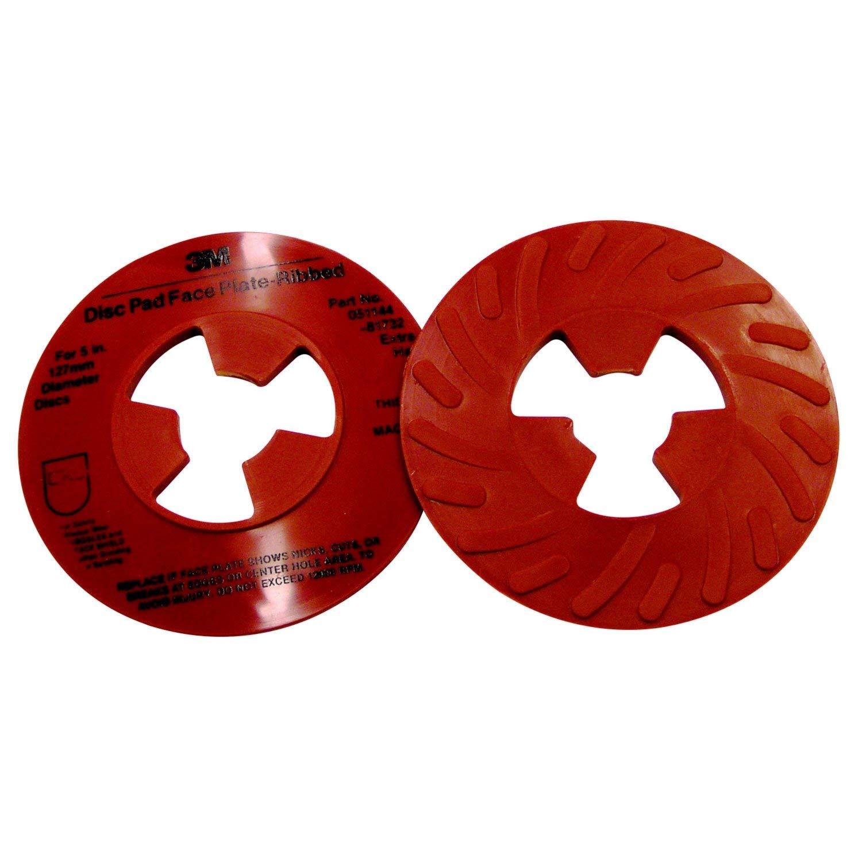Black 9 Diameter 9 Diameter Pack of 10 3M Disc Pad Face Plate Ribbed 81729