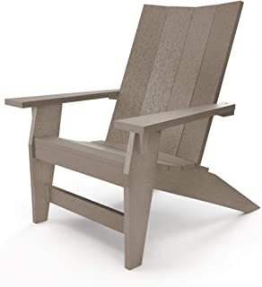 product image for Hatteras Hammocks Weatherwood Adirondack Chair, Eco-Friendly Durawood, All Weather Resistance, Fit 'N' Finish Handcrafted in The USA