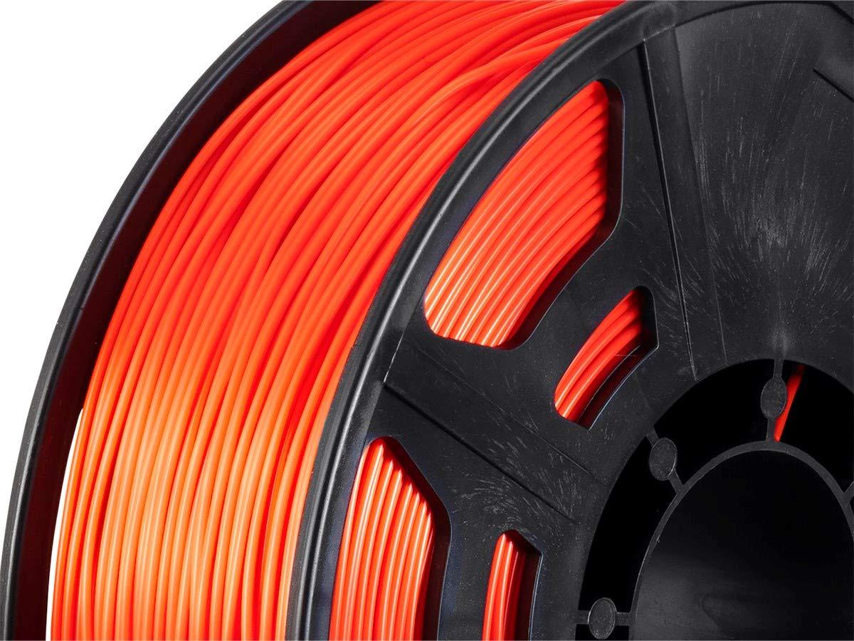 Works with All PLA Compatible 3D Printers 1kg//Spool Orange Monoprice Hi-Gloss 3D Printer Filament PLA 1.75mm