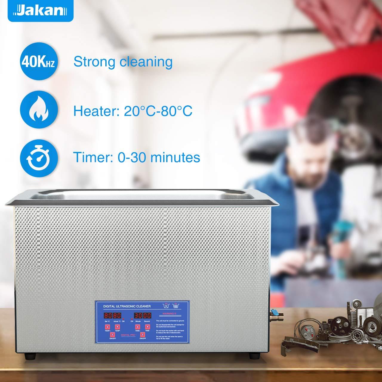 Limpiador ultrasónico Limpieza dispositivo Jakan Digital ultraschallreinigungsgerät 30L limpiador ultrasónico Acero Inoxidable Baño con calefactor 40 kHz ...