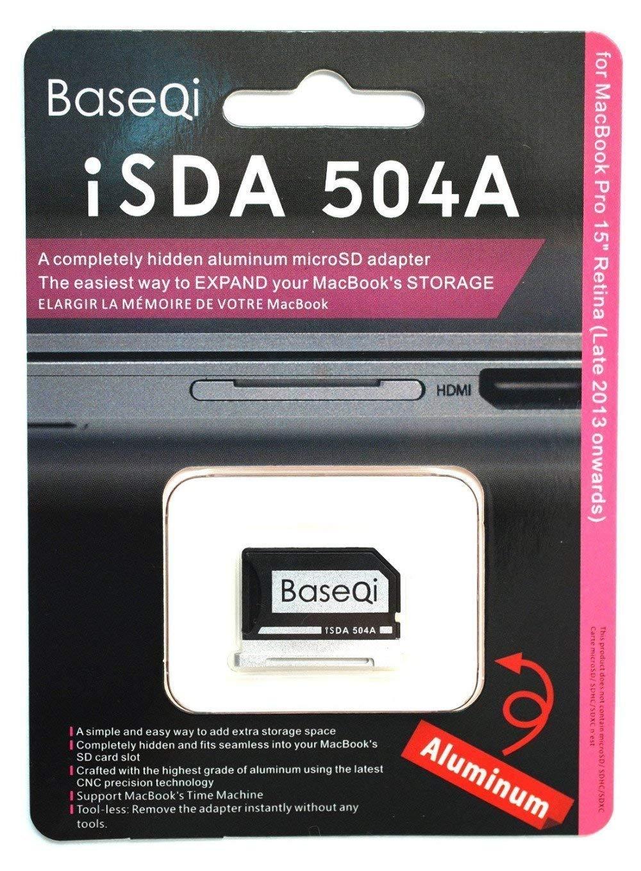 BASEQI FBA_iSDA504ASV aluminum microSD Adapter works with MacBook Pro 15'' Retina (Late 2013 onwards) by BaseQi (Image #4)