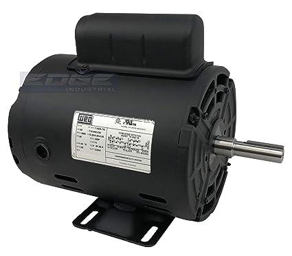 new weg 1hp electric motor fan pump 56 frame 3480 rpm 1 phase 115/230 volt  - - amazon com