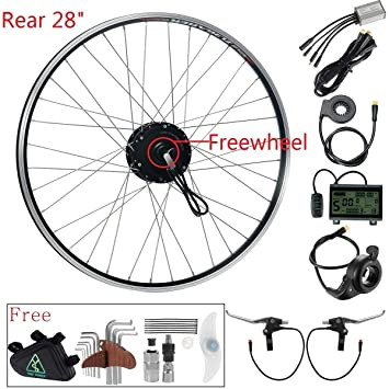 36V350W 700C Rueda Trasera Motor Kit de Conversión, Kit Bicicleta Eléctrica 28 Pulgadas Rosca con
