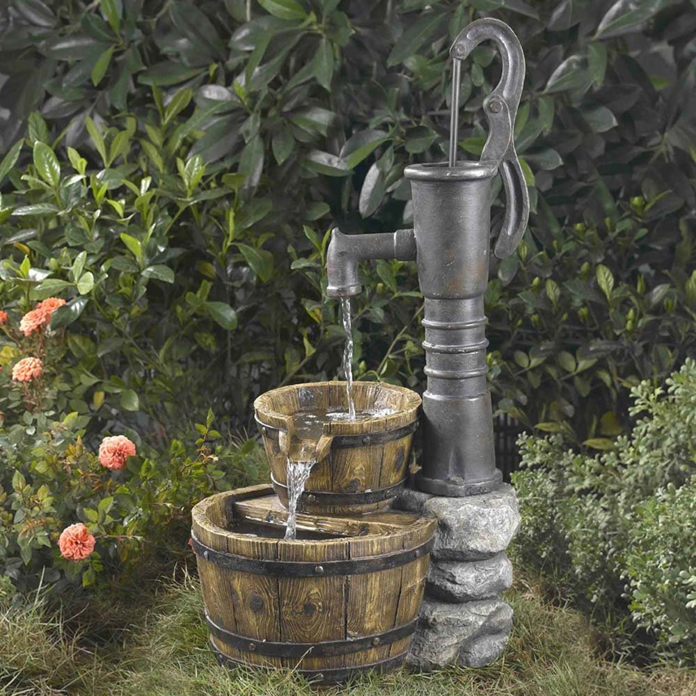Old Fashioned Pump Water Fountain by Jeco Inc.