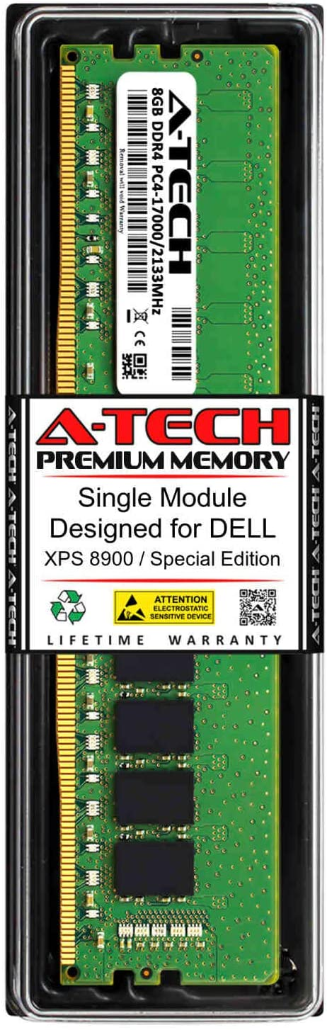 A-Tech 8GB RAM for DELL XPS 8900 / Special Edition | DDR4 2133MHz DIMM PC4-17000 288-Pin Non-ECC UDIMM Memory Upgrade Module