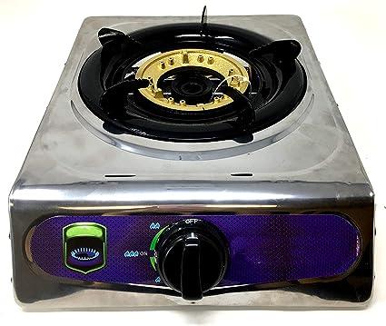 Estufa de gas propano portátil de alta resistencia, estufa de gas butano, cuerpo completo