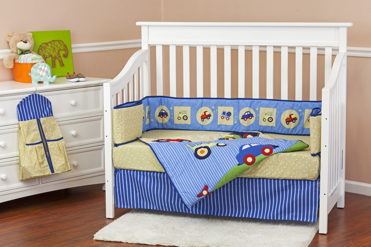 Dream On Me Travel Time 5 Piece Reversible Full Size Crib Set
