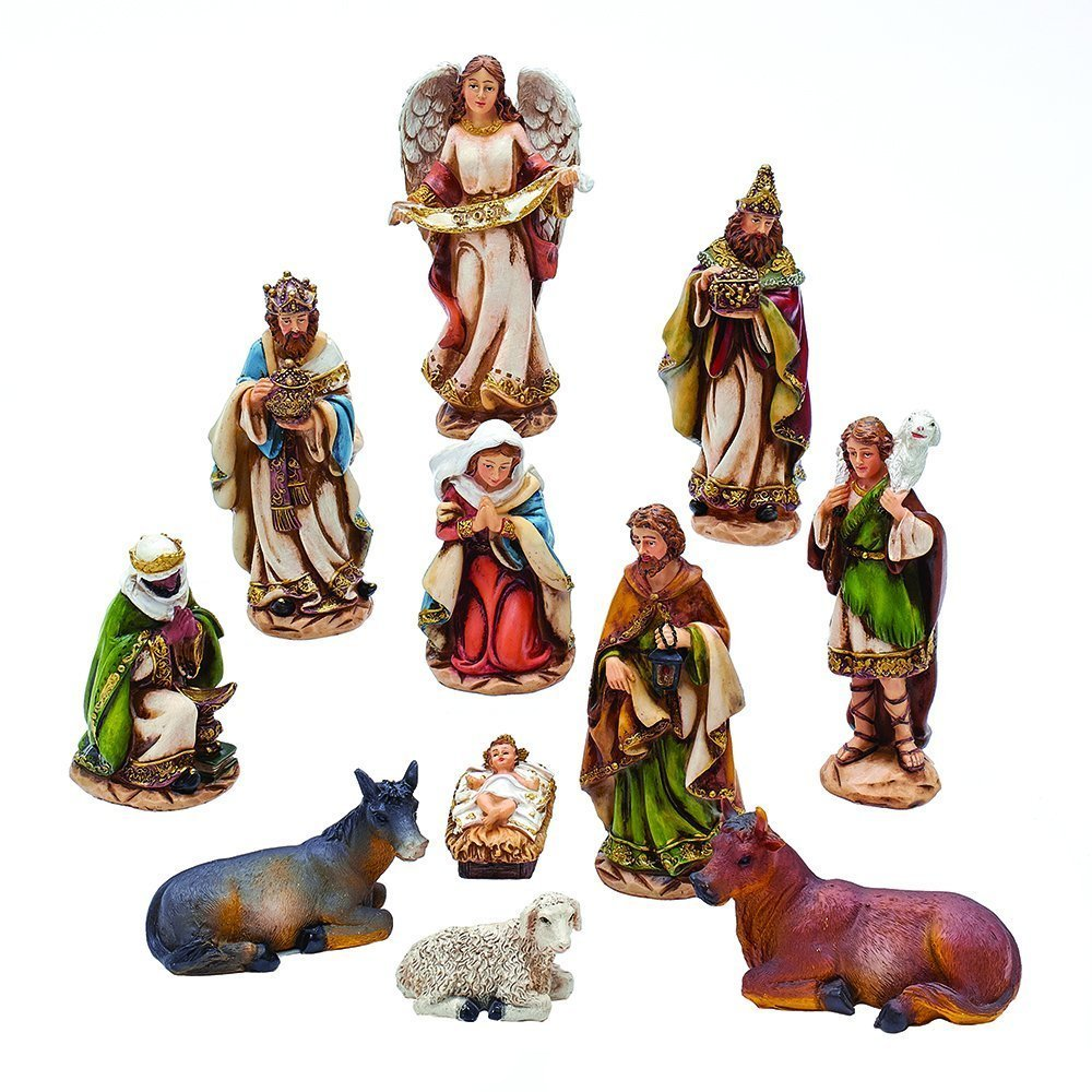 Kurt Adler 6'' Nativity Set with 11 Figures