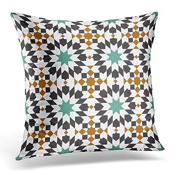 Amazon.com: Funda de almohada Sdamase colorida estilo árabe ...