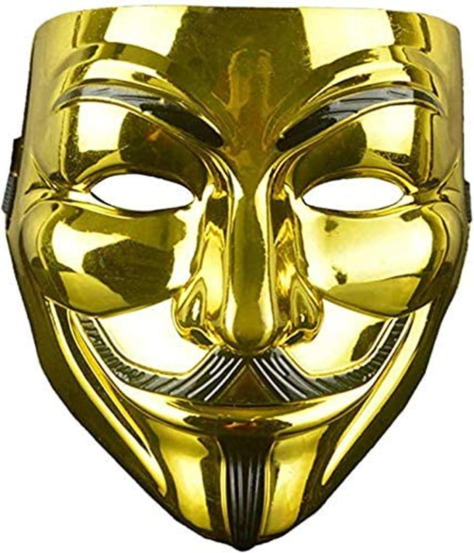 Lot de 4 Masque de Vendetta Halloween Cosplay Guy Fawkes V Mask Haute qualit/é pour Party Mascarade