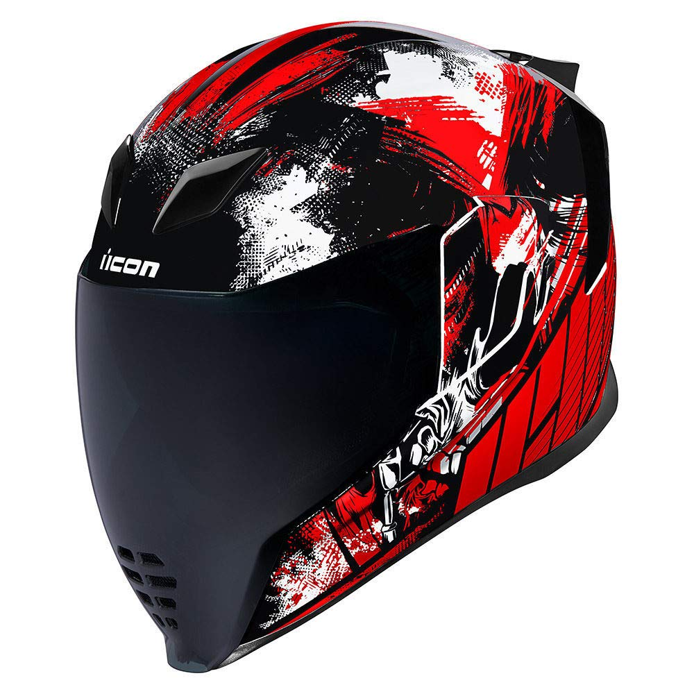 Icon 2019 Folding Motorcycle Helmet Airflite Stim Red
