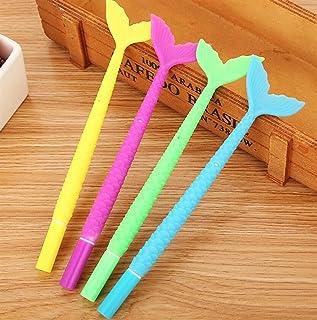 MIMOO Cancelleria per Uufficio Accessori Pratici 3 Pz / Set Coda di Pesce Penna Gel Kit Firma Studente Forniture di cancelleria (Colore e Stile Casuali)