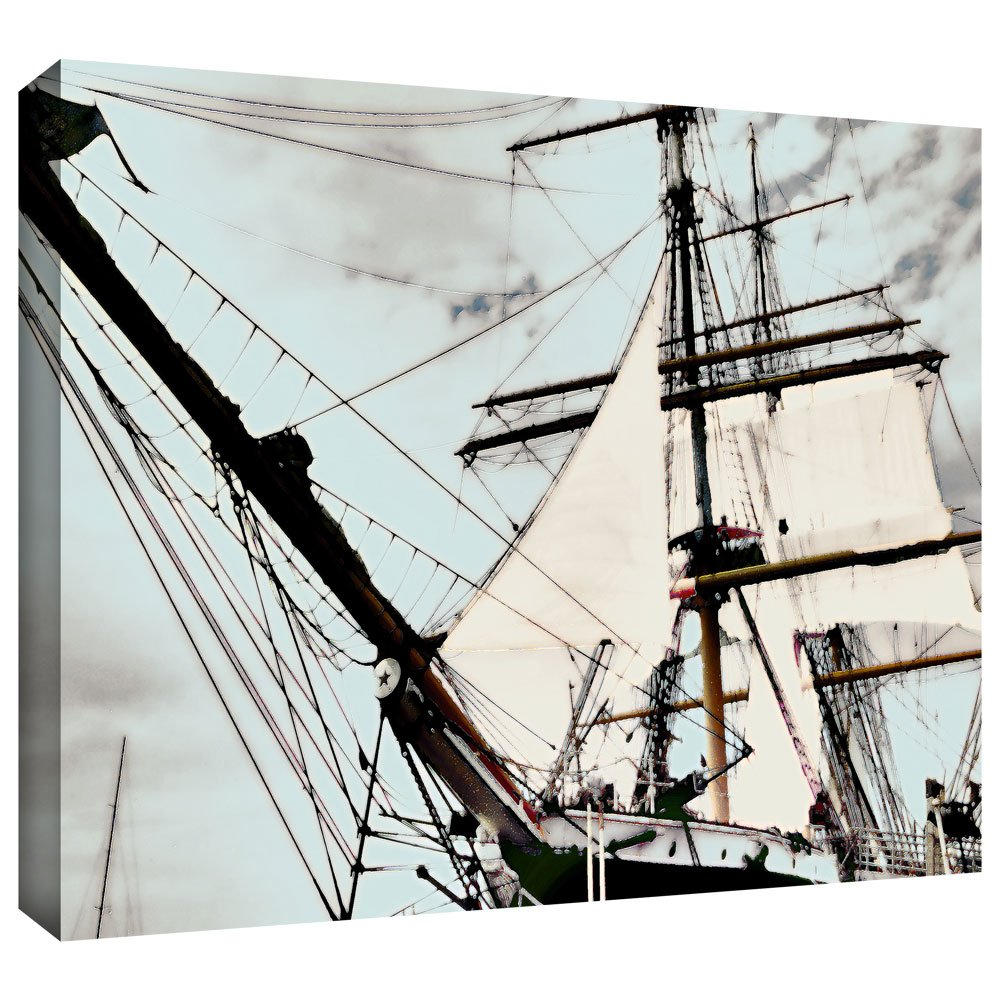 ArtWall Sailing on Star of India I Gallery Wrapped Canvas Artwork by Linda Parker, 48 by 32-Inch