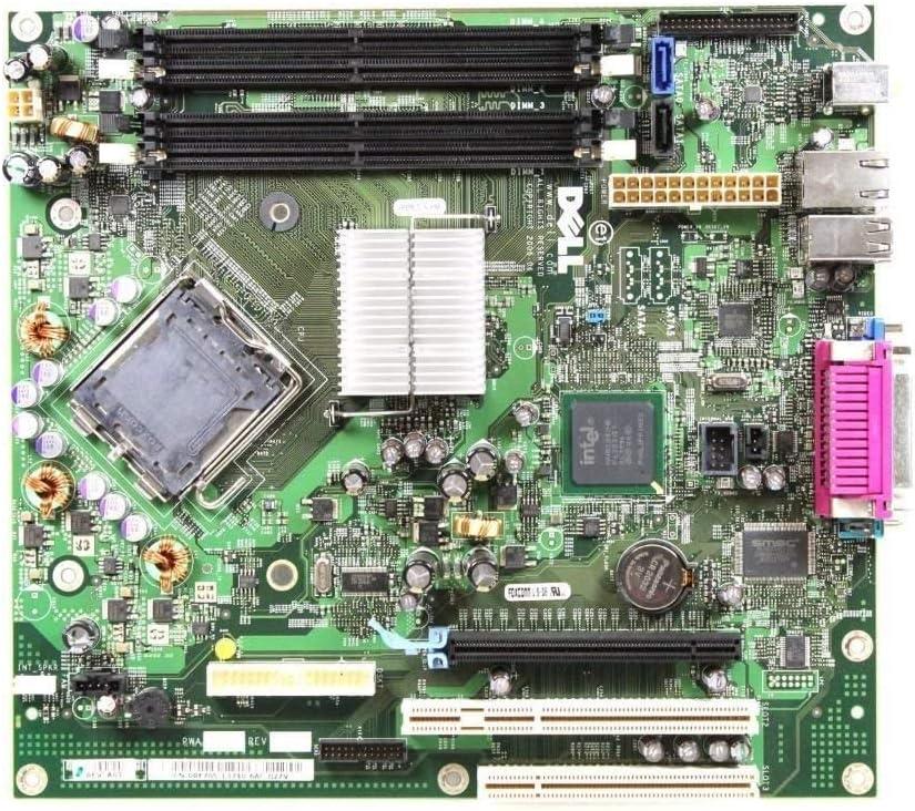 Dell Optiplex 745 DT Desktop motherboard Intel Chipset, Part Numbers: HP962, KW628, PT395, RF705, MM599, WW034,YJ137, NW444, NX183 (Renewed)