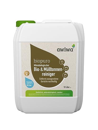 awiwa biopuro bio neutralizador de olor eliminador de olor olores para contenedores, biotonnen, cubo