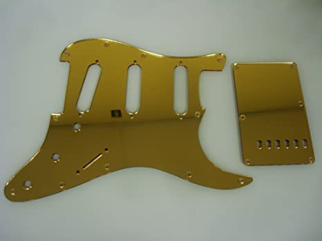 amazon com gold mirror pickguard set fits fender stratocaster strat 57 Strat Gold Pickguard image unavailable