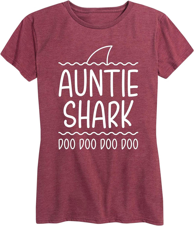Auntie Shark - Women's Short Sleeve Graphic T-Shirt