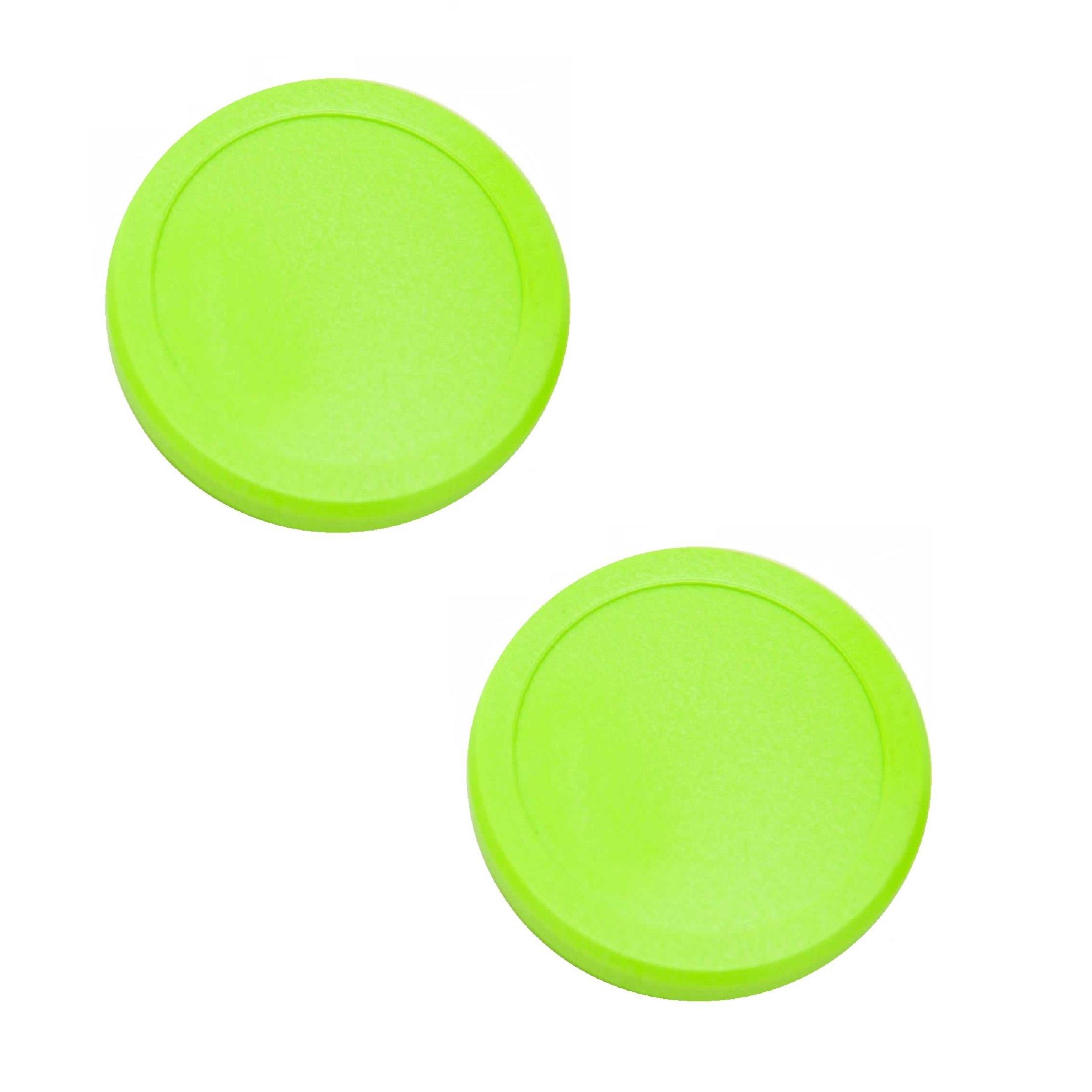 2-1/2'' Dynamo Green Air Hockey Puck Set of 2