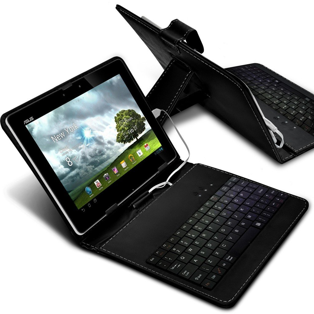 ONX3 Motion Computing CL900 10.1'' (Black) Ultra-Slim Adjustable Tablet Case QWERTY Keyboard Stand Cover for Android Tablet with Micro USB Connection by ONX3®